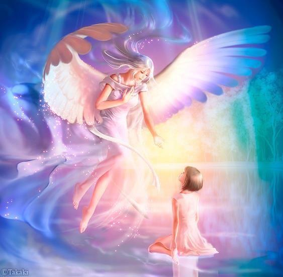 Une petite fille rencontre son Ange Gardien dans un univers merveilleux